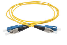 Cable de fribra óptica Fotografía de archivo libre de regalías