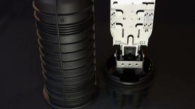 Cable de fribra óptica del acoplamiento almacen de metraje de vídeo