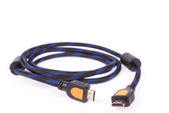 Cable de HDMI en un fondo blanco Imagen de archivo