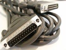 Cable de impresora del ordenador Foto de archivo