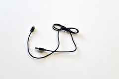 Cable de la carga por USB Imágenes de archivo libres de regalías
