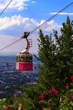 Cable de la ciudad funicular Fotos de archivo libres de regalías