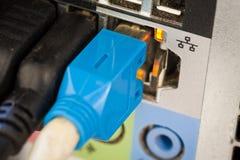 Cable de la conexión de red Foto de archivo libre de regalías
