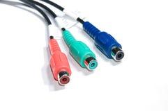 Cable de la conexión del RCA Imagen de archivo
