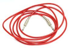 Cable de la corrección de la guitarra eléctrica Imágenes de archivo libres de regalías