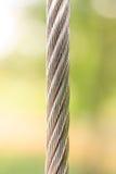 Cable de la cuerda de alambre de acero, fondo Imagen de archivo