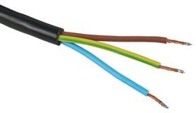 Cable de la energía eléctrica Fotografía de archivo libre de regalías
