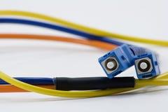 Cable de la fibra del SC Fotos de archivo libres de regalías