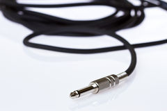Cable de la guitarra Imagen de archivo