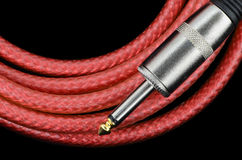 Cable de la guitarra Fotografía de archivo libre de regalías
