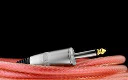 Cable de la guitarra Imágenes de archivo libres de regalías