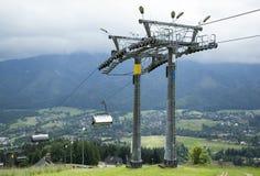 Cable de la montaña de la ciudad de Zakopane Imágenes de archivo libres de regalías