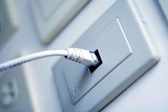 Cable de la red Fotografía de archivo