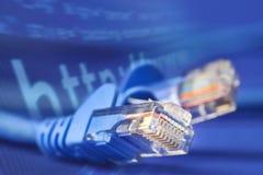 Cable de la red Fotos de archivo