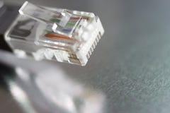 Cable de la red de ordenadores Fotografía de archivo libre de regalías