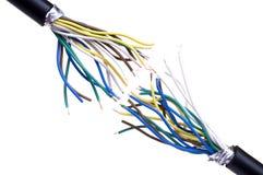 Cable de la rotura Fotografía de archivo libre de regalías