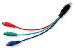 Cable de la tarjeta video Imagen de archivo libre de regalías