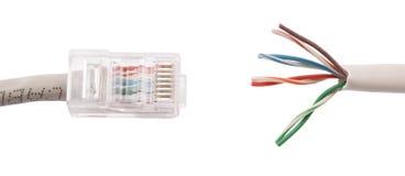 Cable de lan de Internet Fotografía de archivo