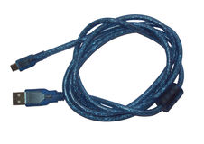 Cable de MicroUSB Fotografía de archivo libre de regalías