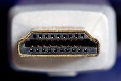 Cable de oro del hdmi fotos de archivo libres de regalías