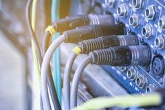 Cable de señal del amplificador Fotografía de archivo