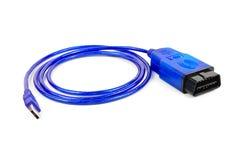 Cable de servicio para los diagnósticos del coche Fotografía de archivo libre de regalías