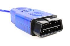 Cable de servicio para los diagnósticos del coche Fotos de archivo