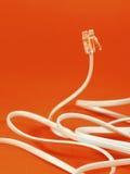 Cable de teléfono Fotografía de archivo libre de regalías