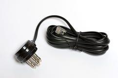 Cable de teléfono Imagen de archivo libre de regalías