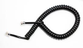 Cable de teléfono Fotos de archivo libres de regalías