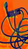 Cable de teléfono psicodélico de la célula Imagenes de archivo