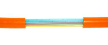 Cable de tierra de la óptica de fibras Imagen de archivo