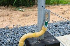 Cable de toma de tierra Fotografía de archivo libre de regalías