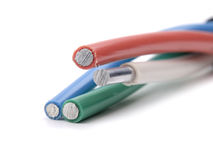 Cable de transmisión aislado Imagenes de archivo