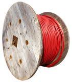 Cable de transmisión de alto voltaje de la bobina enorme Imagen de archivo libre de regalías