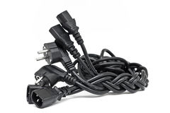 Cable de transmisión para su ordenador Fotografía de archivo libre de regalías