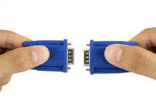 Cable de VGA Imagen de archivo