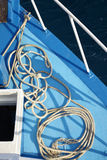 Cable on the deck Royalty Free Stock Photo