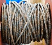 Cable del acero de la cuerda Imagen de archivo
