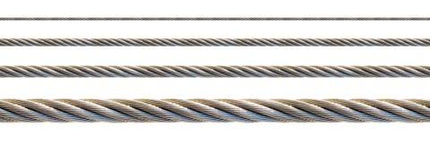 Cable del acero inconsútil. Imágenes de archivo libres de regalías