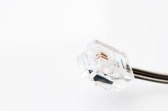 Cable del conector de teléfono Foto de archivo