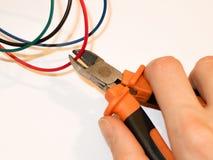 Cable del corte Imagen de archivo