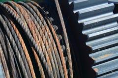 Cable del engranaje Fotografía de archivo