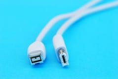 Cable del firewire Imagen de archivo libre de regalías