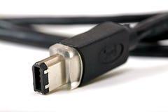 Cable del firewire aislado Fotografía de archivo libre de regalías