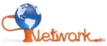 Cable del Internet Imagen de archivo