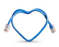 Cable del Internet fotografía de archivo