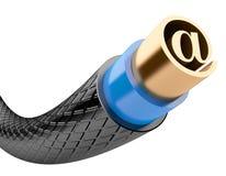 Cable del Internet del ordenador Imagen de archivo libre de regalías