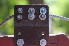 Cable del metal Imágenes de archivo libres de regalías