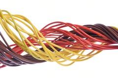 Cable del ordenador aislado en blanco Foto de archivo libre de regalías